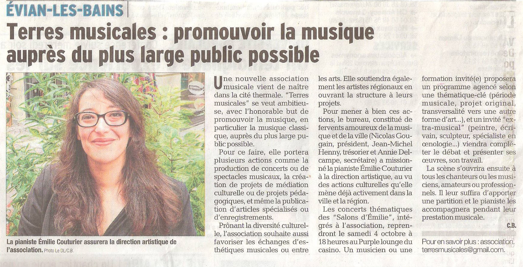 Article dauphine 28 septembre 2014 association terres musicales 3
