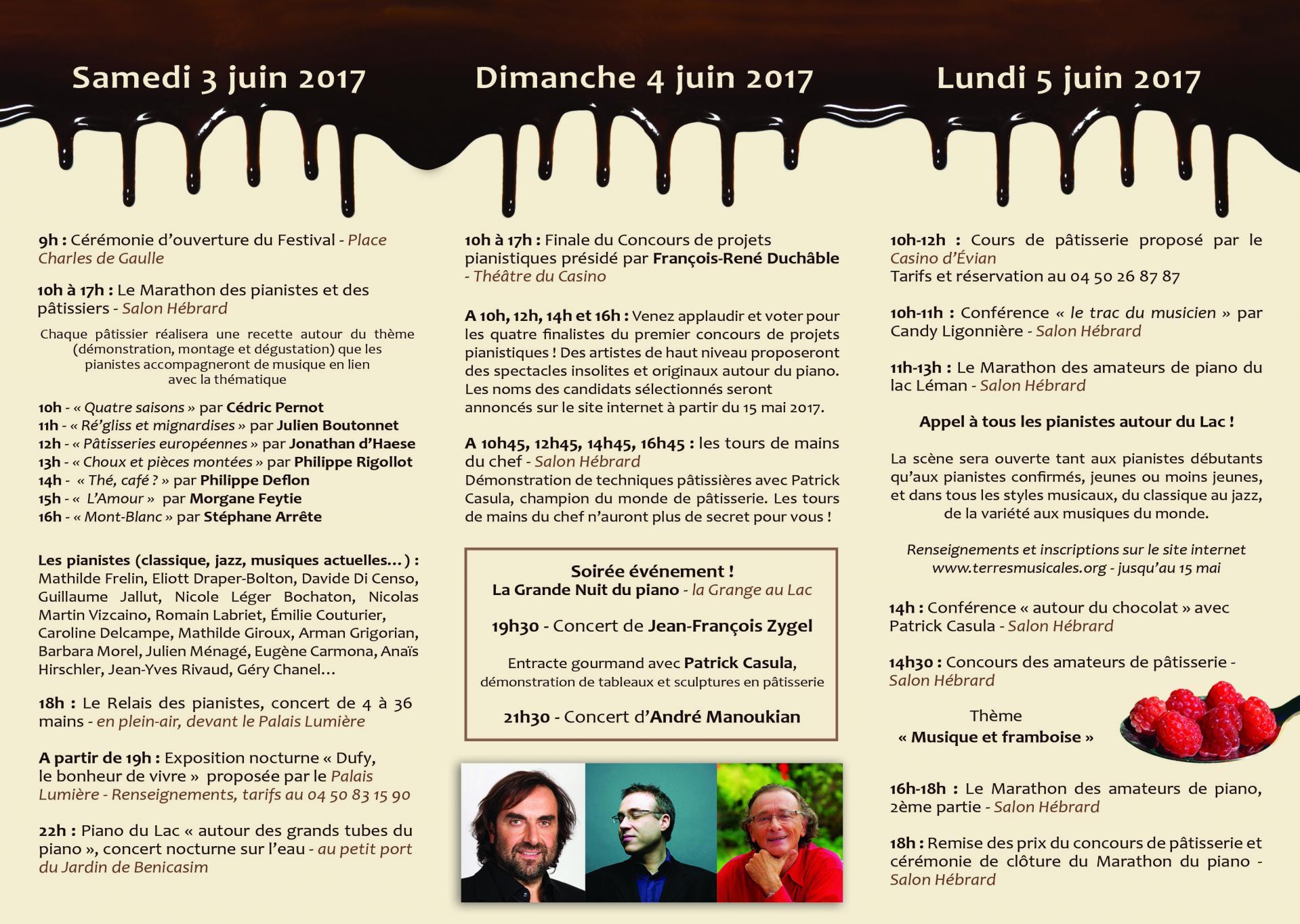 Marathon du piano 2017 programme