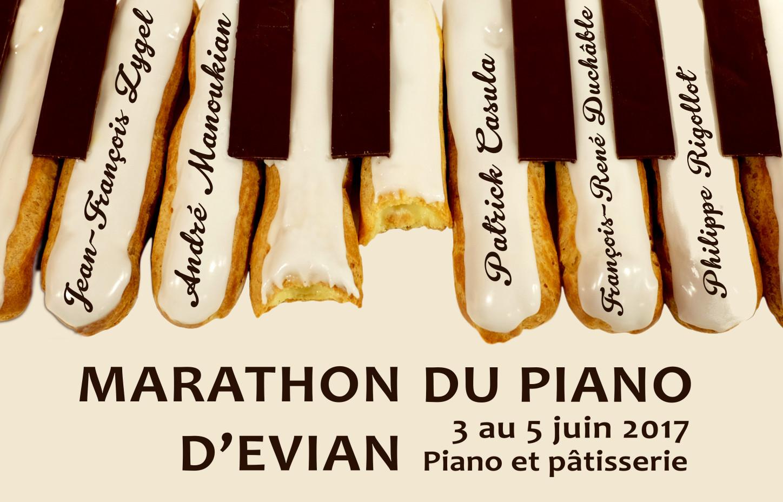 """Le Marathon du piano d'Evian """"piano et pâtisserie"""" - 3 au 5 juin 2017"""