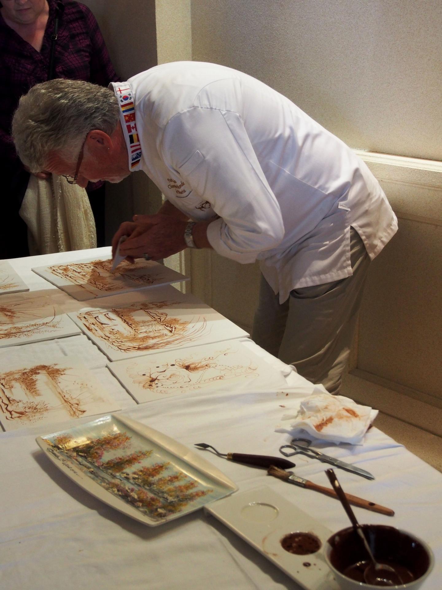 Peinture en chocolat, Patrick Casula champion du Monde de pâtisserie