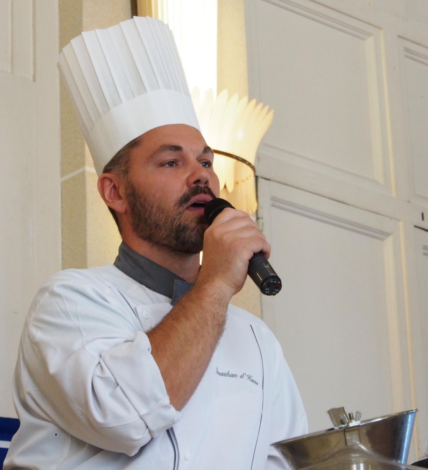 Jonathan d'Haese, chef pâtissier Casino d'Evian